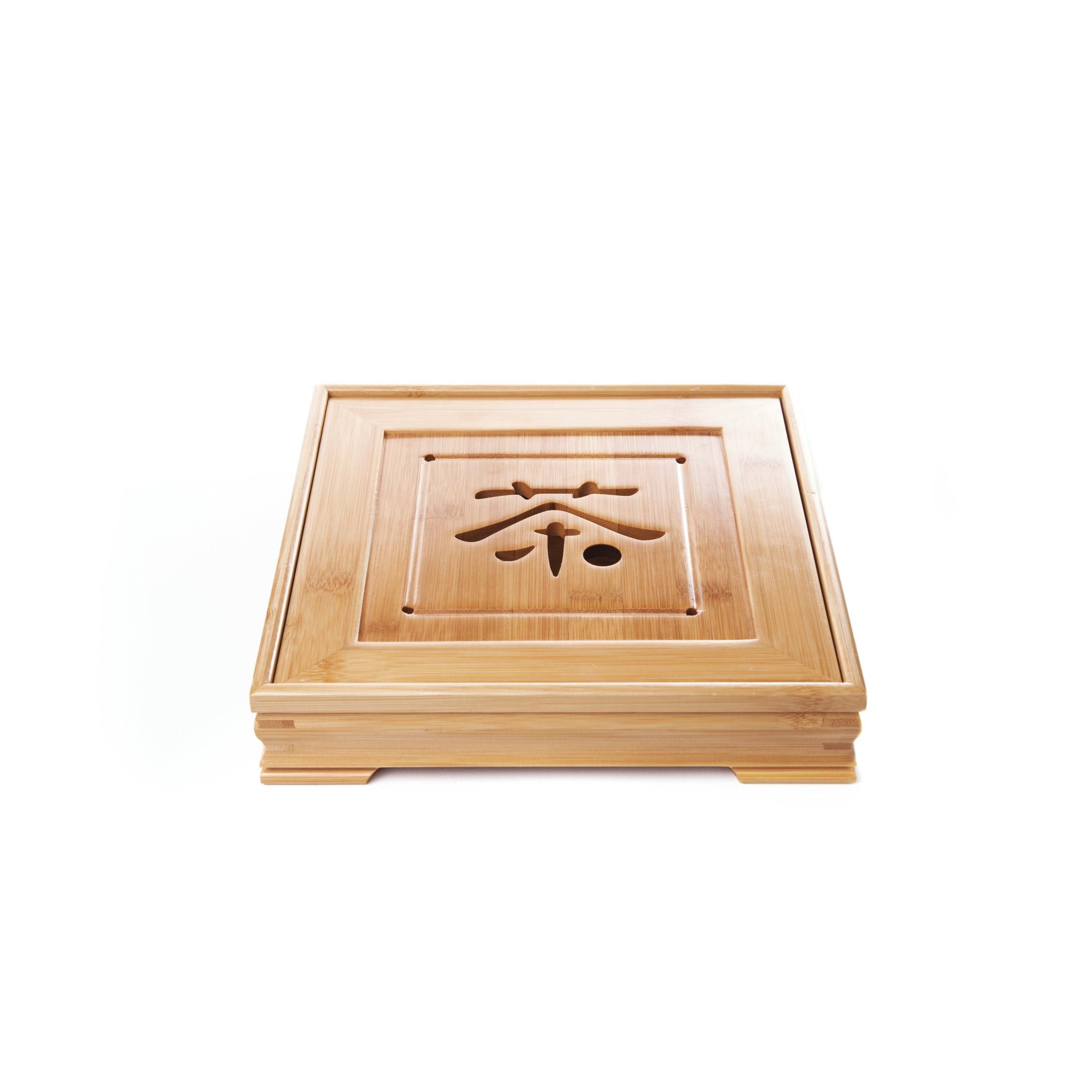Čajové more bambusové štvorec - znak malé