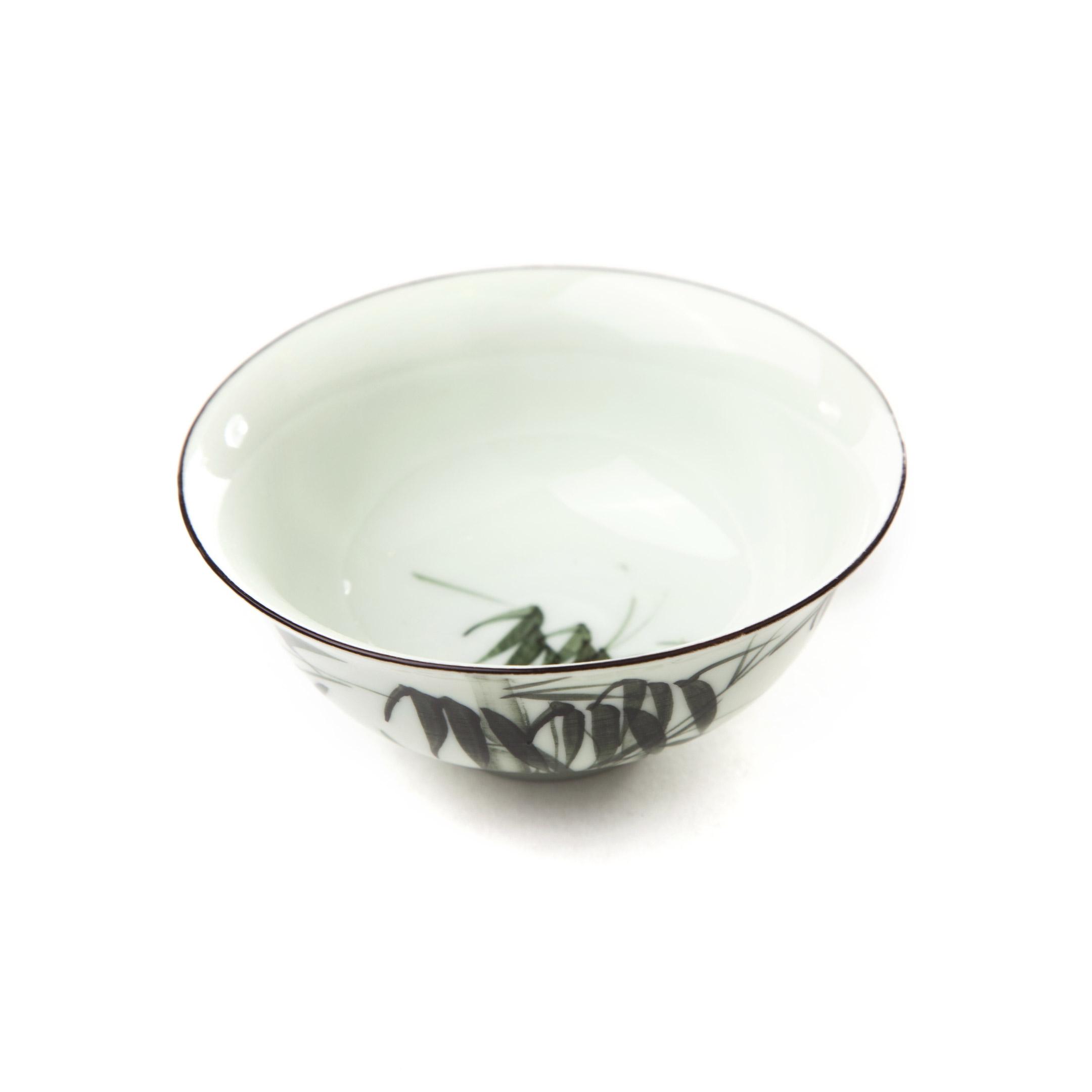 Porcelánová miska zelená - bambus