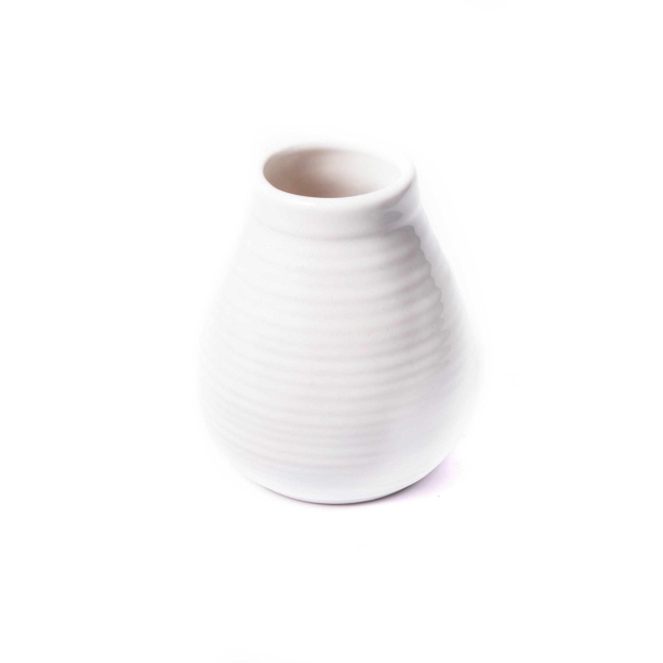 Kalabasa keramická biela II