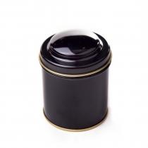 Dóza na čaj gulatá - čierna