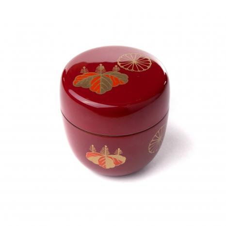 Natsume - Nádobka na čaj Matcha - cervena