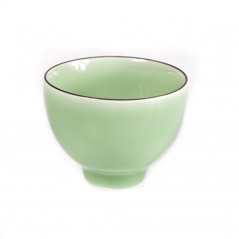 Porcelánová miska zelená glazúra