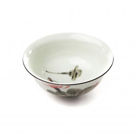 Porcelánová miska zelená - lotos