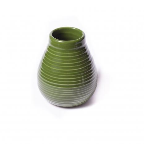 Kalabasa keramická tmavo zelená - 2