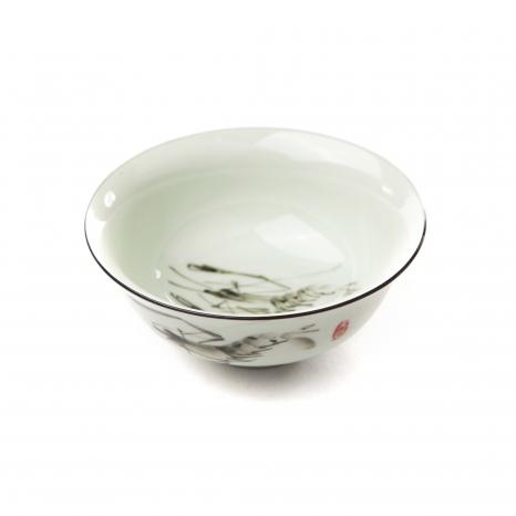 Porcelánová miska zelená - rak