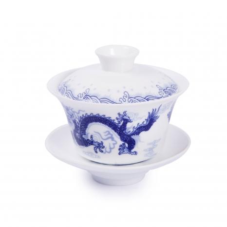 Zhong porcelánový biely drak