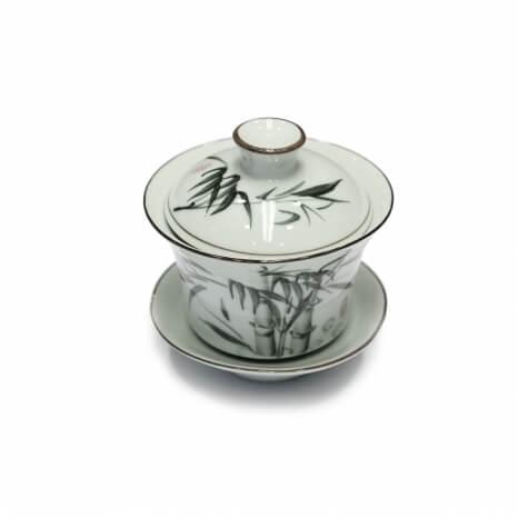 Porcelánový zhong zelený bambus - malý